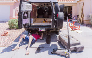 Adventure Van Flooring Install
