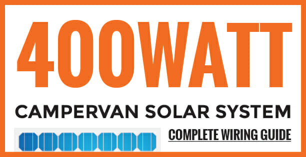 Solar panel power system for campervans