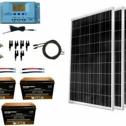 Van Conversion Diy Using A 400w Solar Panel Kit