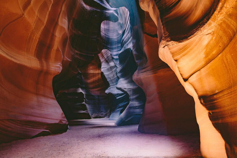 Taking a hiking tour through antelope canyon, arizona