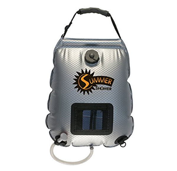 camping bag shower for a diy camper van conversion
