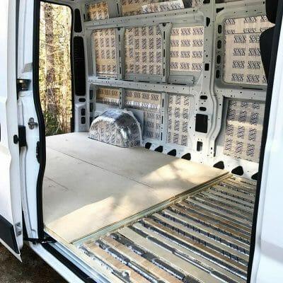 Installing Fatmat Sound Deadener In A DIY Campervan Conversion
