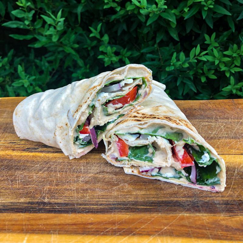 Hummus Wrap Camping Meal