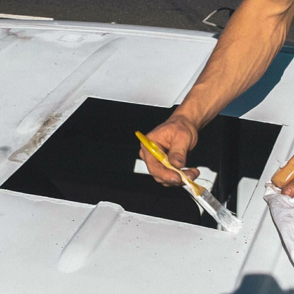 Avoiding rust in a vent fan installation