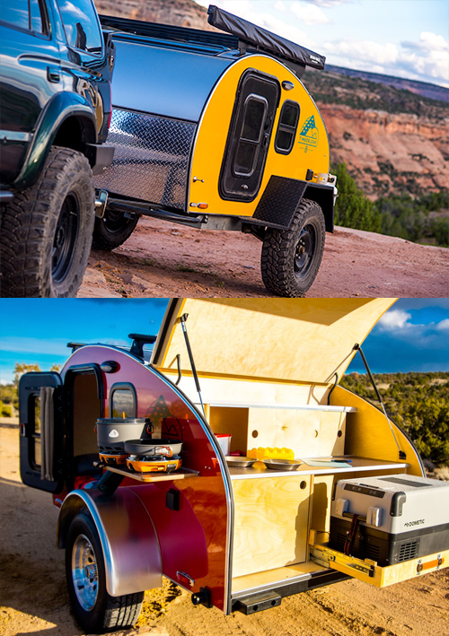 Pika teardrop travel trailer for adventure camping
