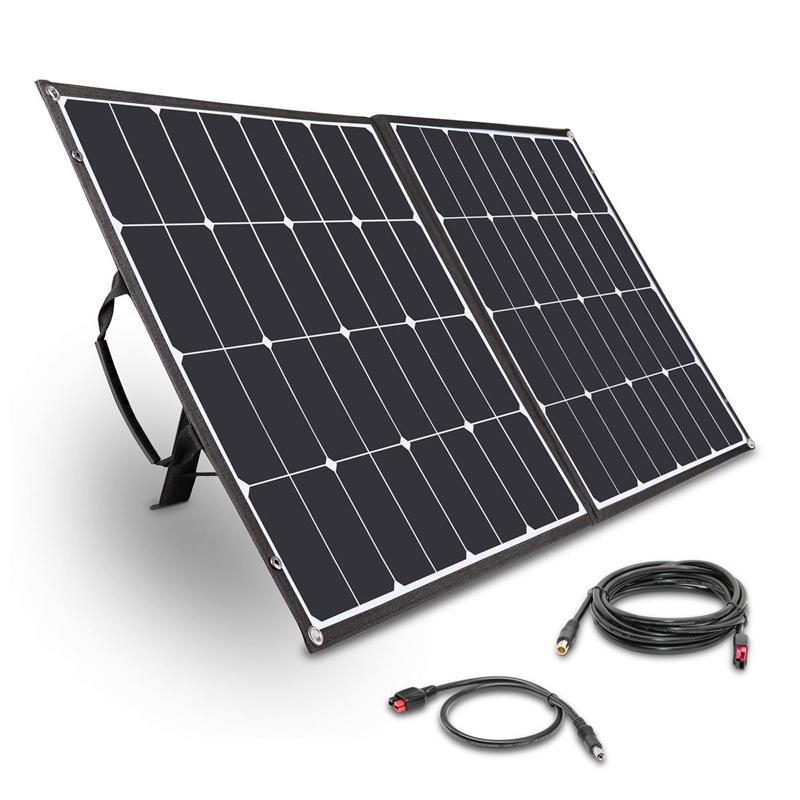 Solar panels for a portable solar powered generator