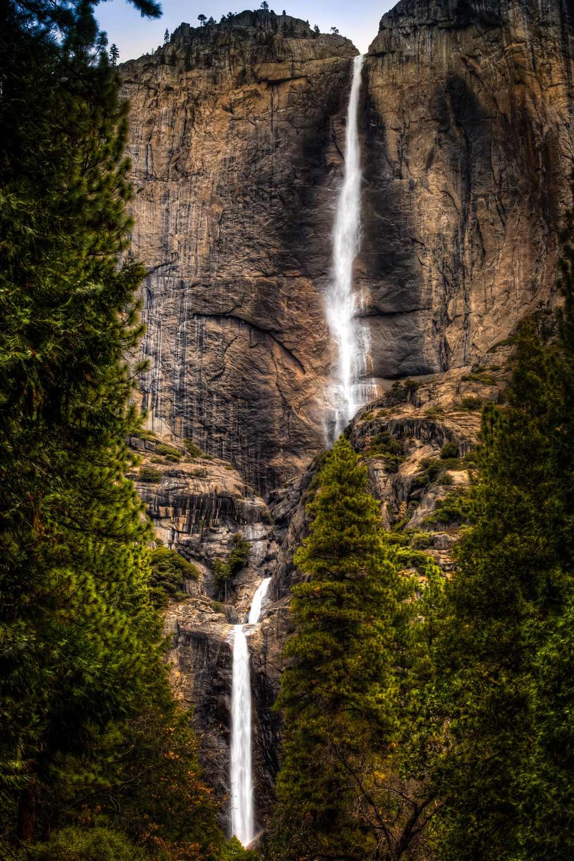 Upper and Lower Yosemite Falls in California