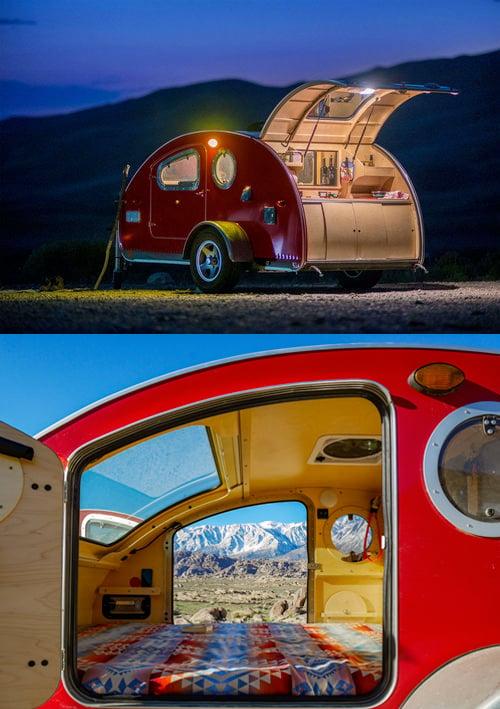 Camping in a vistabule teardrop camper